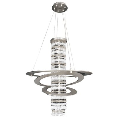 Giovanni 5-Light Globe Pendant Crystal: Firenze Clear