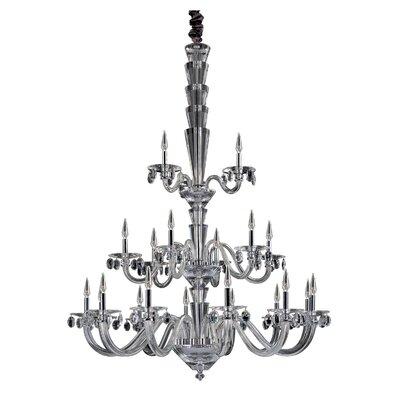 Fanshawe 21-Light Candle-Style Chandelier Crystal: Swarovski Elements Clear