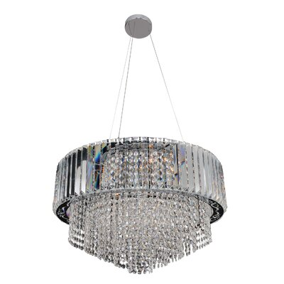 Adaliz 12-Light Drum Pendant Crystal: Firenze Clear