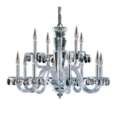 Fanshawe 12-Light Candle-Style Chandelier Crystal: Firenze Clear