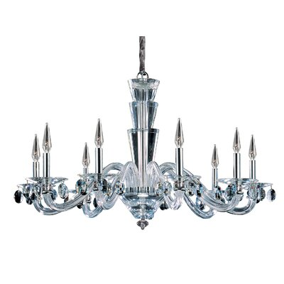 Fanshawe 9-Light Candle-Style Chandelier Crystal: Swarovski Elements Clear