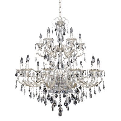 Rafael 21-Light Crystal Chandelier Crystal: Firenze Clear