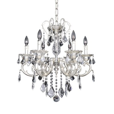 Rafael 6-Light Crystal Chandelier Crystal: Swarovski Elements Clear
