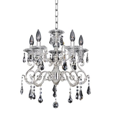 Haydn 5-Light Crystal Chandelier Crystal: Firenze Clear