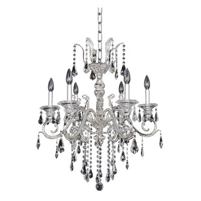 Haydn 6-Light Crystal Chandelier Crystal: Firenze Clear