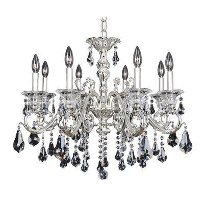 Haydn 8-Light Crystal Chandelier Crystal: Firenze Clear