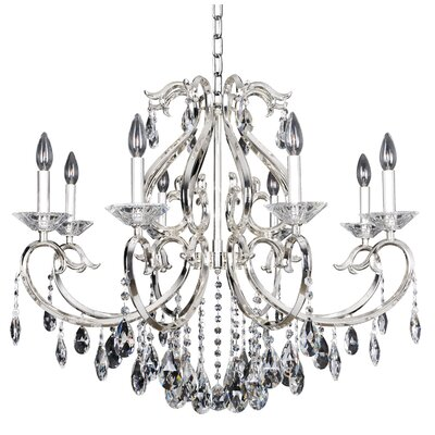 Cesti 8-Light Crystal Chandelier Finish: Silver