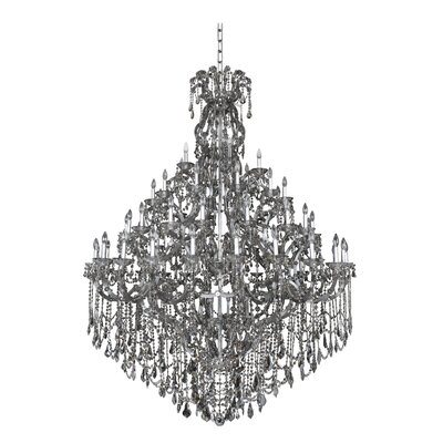Brahms 66-Light Crystal Chandelier Crystal: Firenze Smoked Fleet Argentine