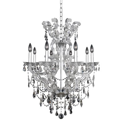 Brahms 8-Light Crystal Chandelier Crystal: Firenze Smoked Fleet Argentine