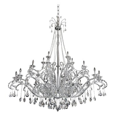 Torrelli 35-Light Crystal Chandelier Crystal: Swarovski Elements Clear
