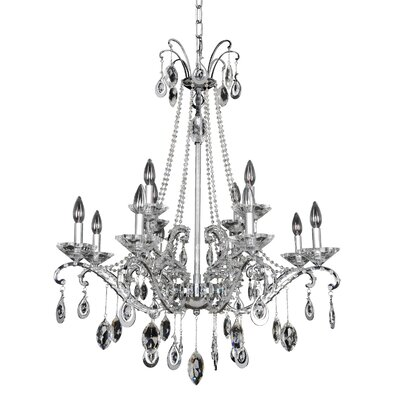 Torrelli 12-Light Crystal Chandelier Crystal: Swarovski Elements Clear
