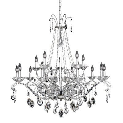 Torrelli 15-Light Crystal Chandelier Crystal: Swarovski Elements Clear