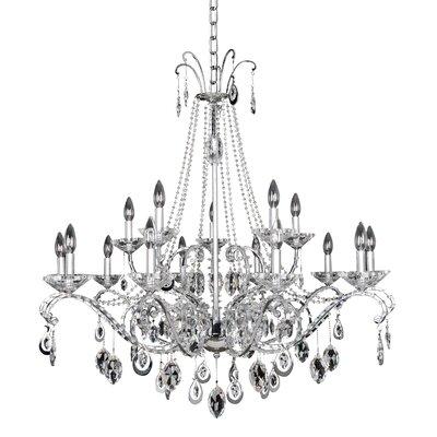 Torrelli 15-Light Crystal Chandelier Crystal: Firenze Clear