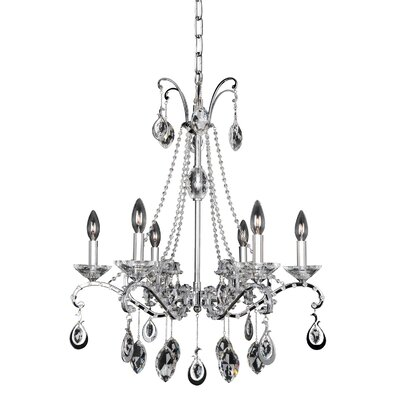 Torrelli 6-Light Crystal Chandelier Crystal: Firenze Clear