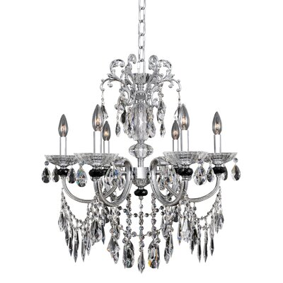 Steffani 6-Light Crystal Chandelier Crystal: Swarovski Elements Clear