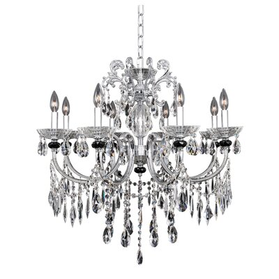 Steffani 8-Light Crystal Chandelier Crystal: Swarovski Elements Clear