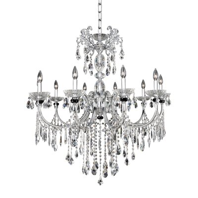 Steffani 10-Light Crystal Chandelier Crystal: Firenze Clear