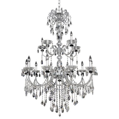 Steffani 15-Light Crystal Chandelier Crystal: Swarovski Elements Clear