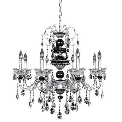 Faure 8-Light Crystal Chandelier Crystal: Swarovski Elements Clear