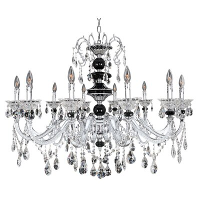 Faure 10-Light Crystal Chandelier Crystal: Firenze Clear