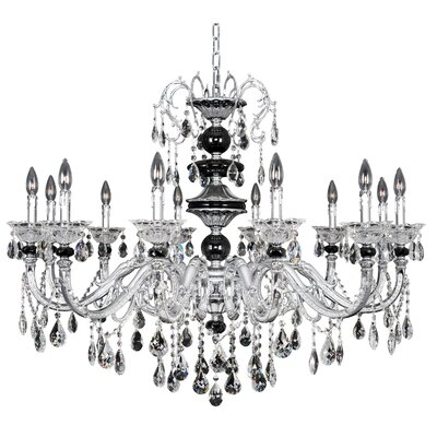 Faure 12-Light Crystal Chandelier Crystal: Swarovski Elements Clear