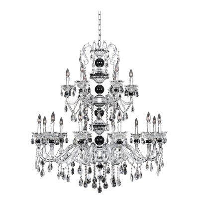 Faure 18-Light Crystal Chandelier Crystal: Swarovski Elements Clear