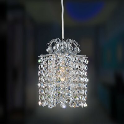 Milieu Mini Pendant 1-Light Crystal Mini Pendant Crystal: Firenze Jet Black