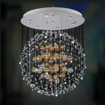 Velaquez 7-Light Waterfall Chandelier