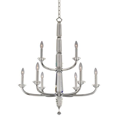 Palermo 2 Tier 9-Light Candle-Style Chandelier