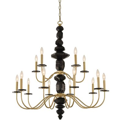 Piedra 2 Tier 15-Light Candle-Style Chandelier