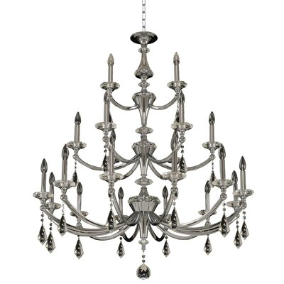Floridia 3 Tier 21-Light Candle-Style Chandelier