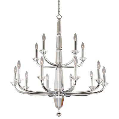 Palermo 2 Tier 15-Light Candle-Style Chandelier