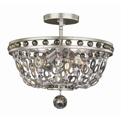 Lucia 4-Light Semi Flush Mount
