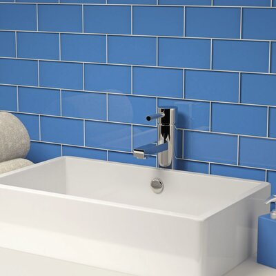 3 x 6 Glass Subway Tile in Azure