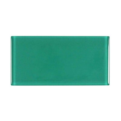 3 x 6 Glass Subway Tile in Emerald Green