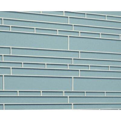 Club Random Sized Glass Mosaic Tile in Slate