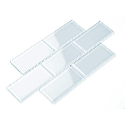 3 x 6 Glass Subway Tile in Baby Blue