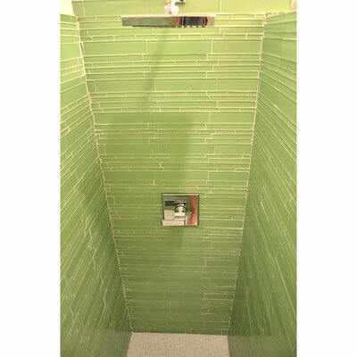 Club Random Sized Glass Mosaic Tile in Light Olive