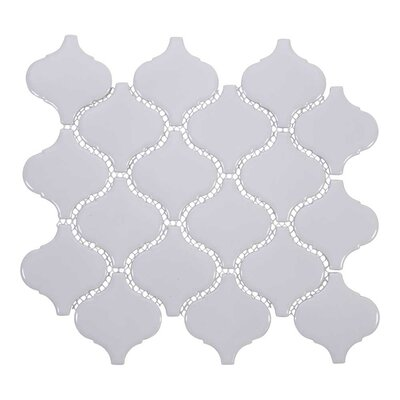 Arabesque 3 x 3 Porcelain Mosaic Tile in White