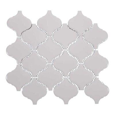 Arabesque 3 x 3 Porcelain Mosaic Tile in Beige