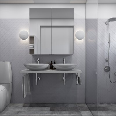Arabesque 3 x 3 Porcelain Mosaic Tile in Light Gray