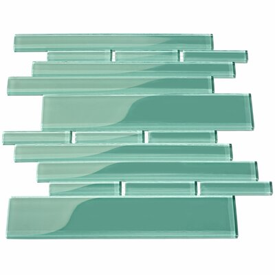 Club Random Sized Glass Mosaic Tile in Teal