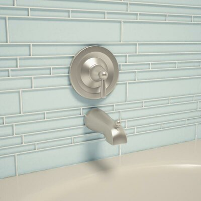 Club Random Sized Glass Mosaic Tile in Baby Blue