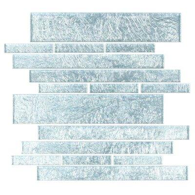 Club Random Sized Glass Mosaic Tile in Silver