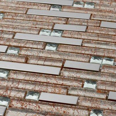Venetian Random Sized Glass and Aluminum Mosaic Tile in Brown