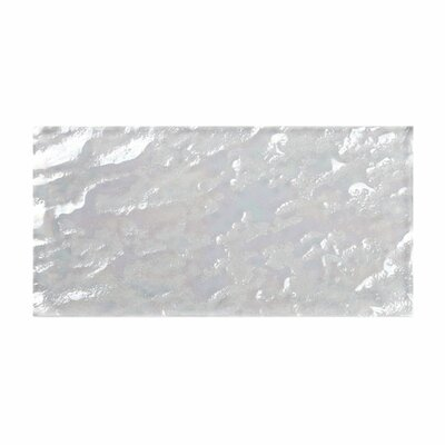 3 x 6 Glass Subway Tile in Bright White-Ice