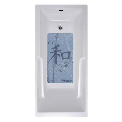 14 x 27 Blue Peace Kanji Art Bath Mat