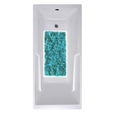 14 x 27 Blue Texture Bath Mat