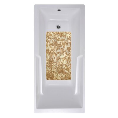 14 x 27 Tapa Bath Mat Color: Brown