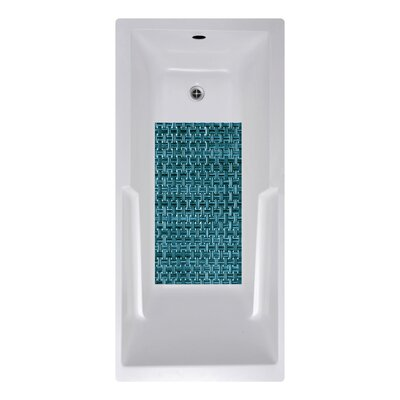 14 x 27 Woven Weave Bath Mat Color: Blue